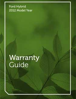 2012 Hybrid Warranty Guide