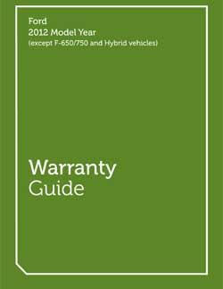 2012 Warranty Guide